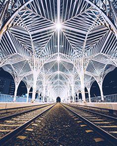 Estacao do Oriente train station - Lisbon, Portugal Santiago Calatrava, Symmetry Photography, Landscape Photography, Tour Around The World, Around The Worlds, Destinations, Europe, Most Visited, Undercover