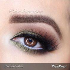 .@milamaquillage   Trucco occhi #verde naturale eye makeup by the beautiful @domloveschris Lash...   Webstagram