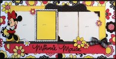 Yay I finally finished the second set of pages in the Disney Series, set # 2 features the fabulous and adorable Minnie Mouse! Vacation Scrapbook, Disney Scrapbook Pages, Scrapbook Cards, Picture Scrapbook, Disney Theme, Disney Fun, Disney Mickey, Disney Ideas, Disney Stuff