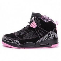 buy online 1679a cd8ec Air Jordan Women Shoes Women s Air Jordan Spizikes Black Pink  Women s Air  Jordan 3 - It features a simple all black colorway, but has a lot going on,  ...