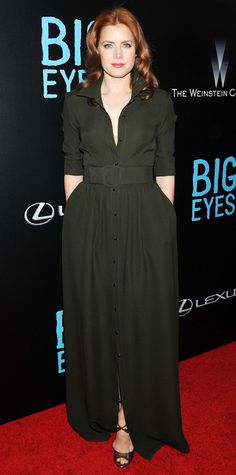Look of the Day - December 16, 2014 - Amy Adams in Max Mara from #InStyle