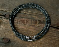 Sterling Silver Mens Leather Bracelet Leather bracelets