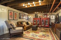 What are some good ideas for a basement room? You can build a basement bar ideas, Home theater, Cozy Playroom, Pool Table, Laundry Room, Kitchen and many more. You must try it! #basementbar Teen Basement, Small Basement Remodel, Cozy Basement, Basement Office, Basement Laundry, Basement House, Basement Makeover, Basement Bedrooms, Basement Flooring