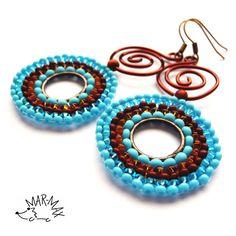 Skořicové kroužky Náušnice  - earrings