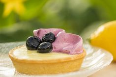 Outdoor Kitchen Offerings at Epcot International Flower & Garden Festival: Florida Blueberry and Lemon Curd Tart #epcotrecipes