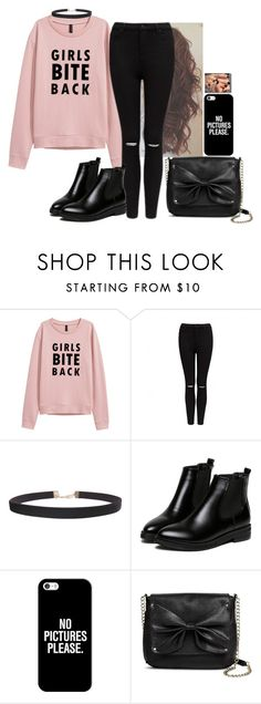 """I am not always a good girl some days👣🖤"" by hannahmcpherson12 ❤ liked on Polyvore featuring Forever New, Humble Chic, WithChic, Casetify and Sam & Libby"