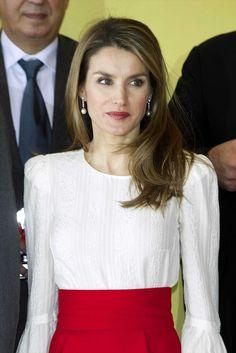 Princess Letizia of Spain's pretty, shiny hair