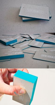 Nice recycled Business Card and subtle colors