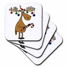 All Smiles Art Christmas - Funny Christmas Moose with Christmas Balls and Candy Cane - set of 8 Coasters - Soft (cst_220489_2) 3dRose http://www.amazon.com/dp/B015JUAUG4/ref=cm_sw_r_pi_dp_Fod4wb1CEP71E