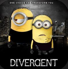 Divergent Minions Im laughing way too hard at this. The Tobias minion is perfect Divergent Film, Divergent Fandom, Divergent Funny, Divergent Insurgent Allegiant, Divergent Party, Tfios, Amor Minions, Minions Love, My Minion