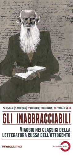Immagine originale di www.igort.com    In cinque incontri, cinque appassionati di letteratura leggono, commentano e raccontano cinque classici della letteratura russa.