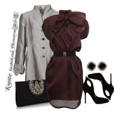Maroon And Silver, created by konata-phenomenalstyle on Polyvore