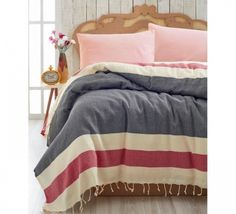 Cuvertura Pique Natural - Negru/Rosu Comforters, Blanket, Bed, Natural, Furniture, Home Decor, Pique, Creature Comforts, Quilts