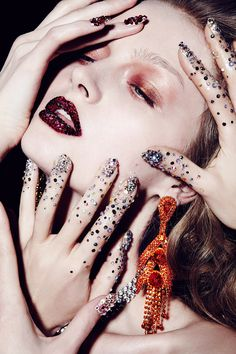 Marie Claire Russia Swarovski Beauty Editorial with model Maria Kalinina | NEW YORK FASHION BEAUTY PHOTOGRAPHER- EDITORIAL COMMERCIAL ADVERTISING PHOTOGRAPHY