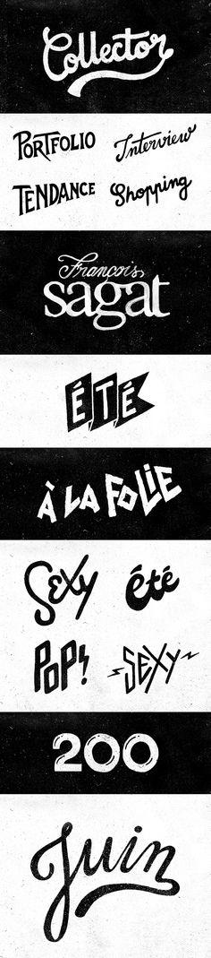 Hand Lettering - Têtu Magazine on Behance