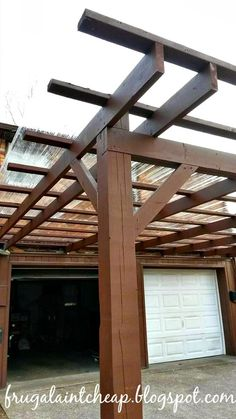 Frugal Ain't Cheap: Pergola Carport
