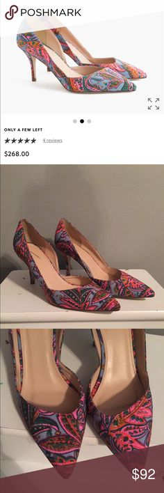 J. Crew Colette D'ordain pumps in paisley size 5.5 Size 5.5:: retails for $268:: small imperfection on inside of right heel. Please see photos. Open to offers. J. Crew Shoes Heels