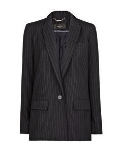 Oversized pinstripe blazer