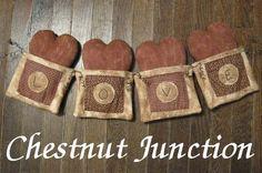 Valentine Heart, Valentine Crafts, Valentines, Valentine Banner, Primitive Country Crafts, Primitive Decor, Reuse Old Clothes, Clothes Crafts, Doll Crafts