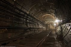 Abandoned subway tunnels