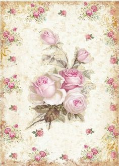 Decoupage Art, Decoupage Vintage, Vintage Labels, Vintage Cards, Vintage Pictures, Vintage Images, Paper Art, Paper Crafts, Deco Rose