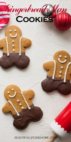Chocolate Dipped Cookies, Chocolate Cake Recipe Easy, Melting Chocolate Chips, Christmas Foods, Christmas Treats, Christmas Cookies, How To Make Gingerbread, Soft Gingerbread Cookies, Almond Bark