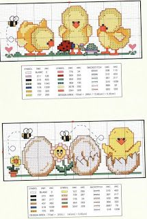 Easter chick cross stitch