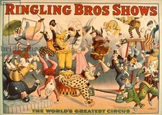 Circus Poster: Ringling Bros Shows - The World's Greatest Circus (colour litho)