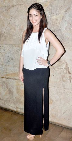 Yami (Yaami) Gautam at screening of Bangistan.