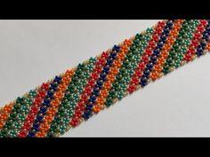 Beaded Jewelry Designs, Bead Jewellery, Handmade Beads, Handmade Bracelets, Beading Tutorials, Beading Patterns, Beaded Necklace, Beaded Bracelets, Bead Art