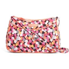 Vera Bradley Little Crossbody in Pixie Confetti ($17) ❤ liked on Polyvore featuring pixie confetti