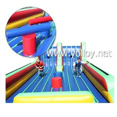 Bungee run #inflatable game.