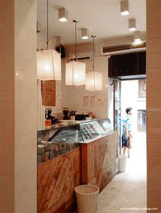 Interior de Mistura. Foto de www.madridcoolblog.com Madrid, helados, chueca, fuencarral, gran vía, helados artesanales, madrid in love, deco...