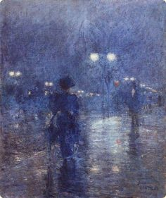 The Athenaeum - Fifth Avenue Nocturne (Frederick Childe Hassam - )