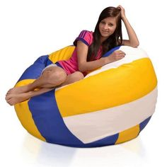 Love it. #volleyball IS THAT A VOLLEYBALL BEAN BAG?!?!?!?!? NEED ONE IN GREEN!!!! :)
