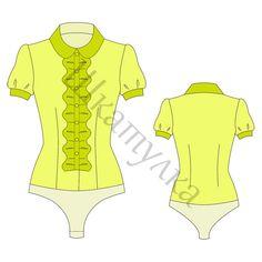 Bluse mit Body - free pattern, RU 44 & 50, müsste bei uns 40 & 42 sein