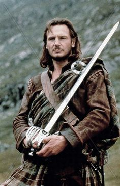 """Liam Neeson as Robert Roy MacGregor in """"Rob Roy"""" Brave man who risks everything for his honer, and his people!"""