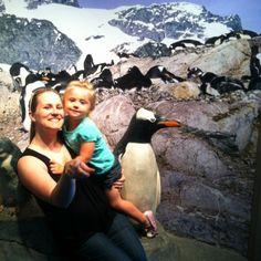 Mommy and Kk at the Aquarium