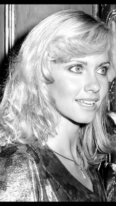 Olivia Newton John-Beautiful Eyes, even in black and white!!