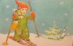 martta wendelin - Google-haku Vintage Christmas Cards, Christmas Art, Vintage Cards, Xmas, Ski, Baumgarten, Tove Jansson, Retro Kids, Art For Art Sake