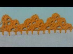 Bico de crochê de carreira única #117 - YouTube Brazilian Embroidery Stitches, Learn Embroidery, Embroidery Fashion, Knitting Stitches, Knitting Patterns, Crochet Patterns, Crochet Flowers, Crochet Lace, Crochet Borders