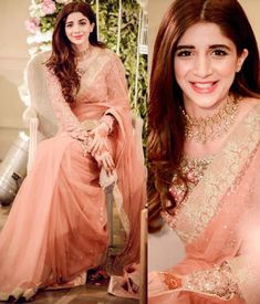 Social media star and style princess of Pakistan, actress Mawra Hocane dazzles with her fashionable looks whatever the occasion. We take a look at her most breathtaking looks. Pakistani Formal Dresses, Pakistani Wedding Outfits, Pakistani Wedding Dresses, Saree For Wedding, Fancy Dress Design, Stylish Dress Designs, Sarees For Girls, Farewell Dresses, Designer Sarees Wedding