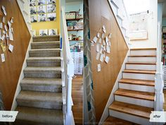 simple and inexpensive stair re-do.