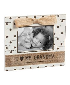 Loving this 'I Heart My Grandma' Frame on #zulily! #zulilyfinds