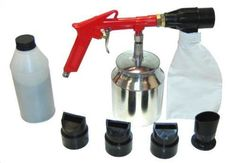 TCP Global Brand Air Sand Blasting Gun with Sand Recovery System Includes Abr... #TCPGlobal