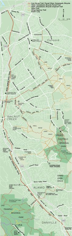 Iron Horse Trail Map - North