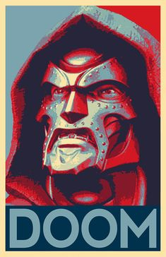 Doctor Doom Pop Art Illustration Marvel Superhero Comic Book image 1