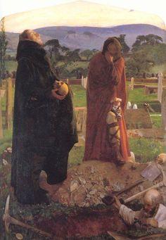 Hamlet - The churchyard scene by Frank Cadogan Cowper :: artmagick.com