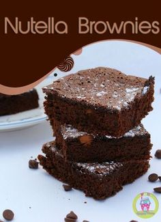 Nutella Brownies from FunHappyHome.com {Only 2 Ingredients!!!}