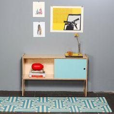 Teppich I-Beam 215x75 Blau, 130€, jetzt auf Fab.